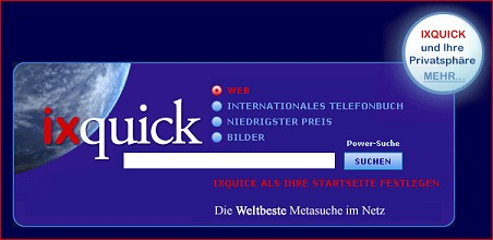 ixQuick Metasuche