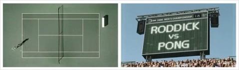 Roddick vs. Pong