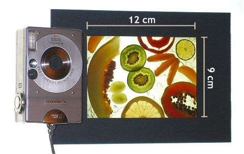 Kamera-Dia-Vergleich