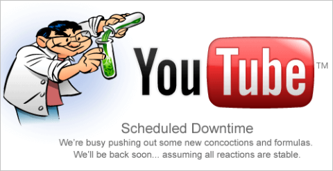 YouTube Downtime