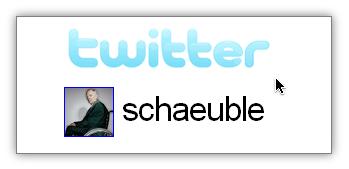 Schäuble twittert
