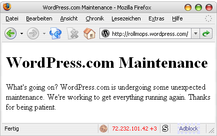 Wordpress-Down