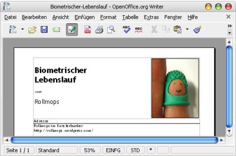 Biometrischer-Lebenslauf