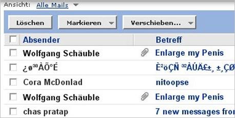 eMail von Schaeuble